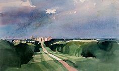 Windsor Castle, a watercolour by Ian Potts Watercolor Landscape, Landscape Art, Watercolor Paintings, Watercolours, Brighton School, John Ruskin, Winslow Homer, Andrew Wyeth, Windsor Castle