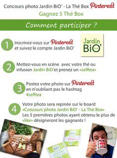 Du 17 au 30 septembre participez au #concours photo #Jardinbio #lathébox  et tentez de gagner 5 Thé Box Règlement : http://www.jardinbio.fr/actu/reglement-concours-photo-jardin-bio-la-the-box/