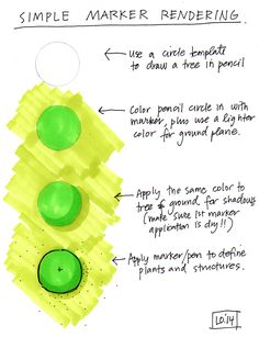 Quick Tips for Rendering a Plant Symbol in Marker by www.lisaorgler.com