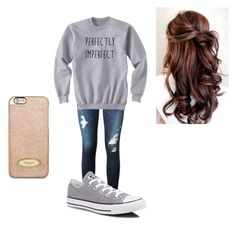 """""""Chill not so try hard"""" by oliviaolmstead on Polyvore featuring AG Adriano Goldschmied, Converse and MICHAEL Michael Kors"""
