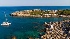 Kalithea Springs Therme and Beach, Aerial Drone View, Rhodes,Gre Aerial Drone, Greece Travel, Beach, Water, Outdoor, Rhodes, Gripe Water, Outdoors, The Beach
