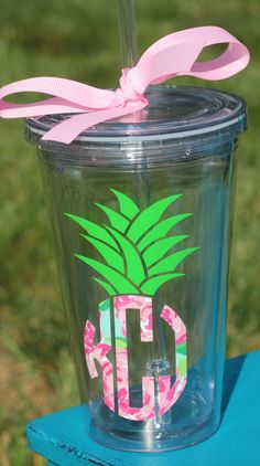 Personalized Lily Pulitzer Monogrammed Pineapple by TGNCreations