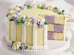 What a charmingly beautiful Easter Checkerboard Cake. Wonderful work! #cake #checkerboard #Easter #food #pastels #dessert #elegant