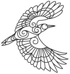 coloriage colibri, colibri, coloriage zen, coloriage