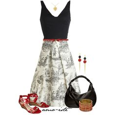 Modcloth Printed Dress, created by amo-iste on Polyvore