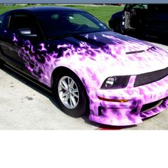 Pink & Black Mustang