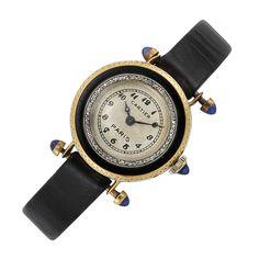 Lady's Gold, Enamel and Diamond Wristwatch, Cartier, Paris, circa 1920