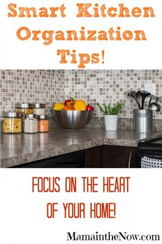 Smart Kitchen Organization Tips from Professional Organizer Sidney Young. Tips, tricks and inspiration to organize and clean your kitchen and pantry - once and for all! Ideas that will last and awesome products to keep the heart of your house clutter-free!
