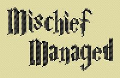 Cross Stitch Pattern - Harry Potter - Marauder's Map Quote - Chart H08 - by KaNITTED