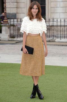 Le look d'Alexa Chung à la Royal Academy Summer Exhibition à Londres