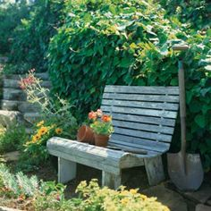 The garden bench.  A perfect starting point.