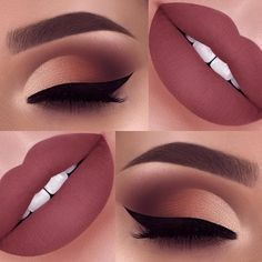 Makeup tutorial for brown eyes winged liner eyeliner Ideas Make-up-Tu Makeup Eye Looks, Cute Makeup, Makeup For Brown Eyes, Simple Makeup, Brown Eyeliner, Eyebrow Makeup, Eyeshadow Makeup, Lip Makeup, Eyeshadow Palette