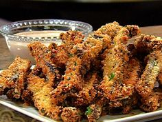 Get Portobello Mushroom Fries Recipe from Food Network Portobello Mushroom Fries Recipe, Stuffed Portabello Mushrooms, Low Carb Recipes, Healthy Recipes, Tandoori Chicken, Food Network Recipes, Side Dishes, Appetizers, Lunch