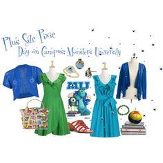 Plus Size Pixie: Monsters U, created by plussizepixie on Polyvore