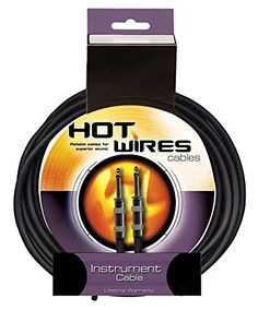 Hot Wires Guitar Instrument Cables  15 Feet * Continue to the product at the image link.Note:It is affiliate link to Amazon.
