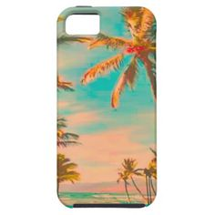 PixDezines Vintage Hawaiian Beach Scene/teal iPhone 5 Cover  $44.95 per case