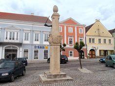 Pillory at the main square of Retz, Austria