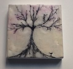 Little tree. MioDesigns. Ençaustic wax