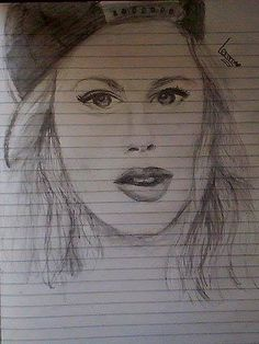 Martina Stoessel drawing <3 :) #ViolettaLiveChile @TiniStoessel @marianaluciamuz