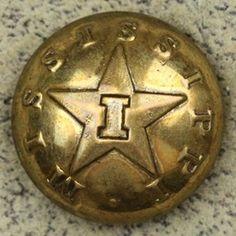 Mississippi Infantry coat button