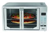 Voilà, dinner's done! The Oster Digital French Door Oven looks elegant, cooks with convection and makes meal prep easier. Unique design opens both doors with a single pull so you can place dishes in the oven without hassle. Digital controls p...