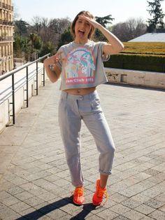 Marta Kornelski del blog Be Rock Be Fashion luce en este post pantalones de @Soyunachicanormal SUCHN creando un look casual.