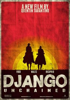 DJANGO UNCHAINED TARANTINO POSTER A4 A3 A2 A1 CINEMA MOVIE LARGE FORMAT #2