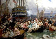 Napoleon in Plymouth Sound, August 1815  Jules Girardet - Date unknown