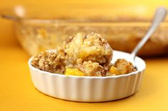 Peach Crisp...Is and the kids told me it was the best crisp I've made! And soooo easy my gosh!