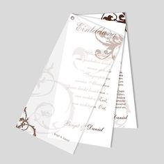 Fächereinladung mit Öse für die Hochzeit. Hochzeitseinladung mit Ornamenten Playing Cards, Cover, Design, Wedding Card, Diy, Paper, Card Wedding, Birthday, Playing Card Games