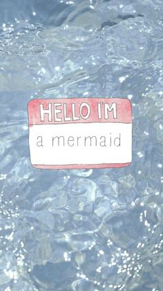 Hello i'm a mermaid wallpaper from Sassy Wallpaper app :)