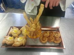 Puff Pastry Magic -lemon curd pinwheels, cheese straws and cinnamon palmiers http://www.alchemyofthehearth.com/baking-patisserie-program