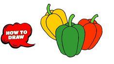 drawing vegetables draw simple step easy vegetable drawings