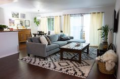 Mr. Kate - Newlyweds on a Budget! Living Room/ Dining Room Makeover