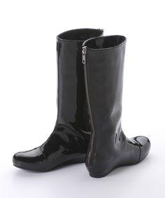 Lanvin Petite Patent Boots | Odile