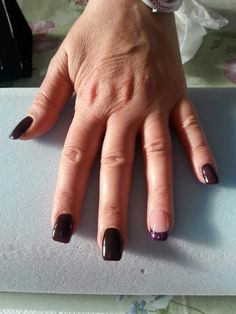 Brown and violet