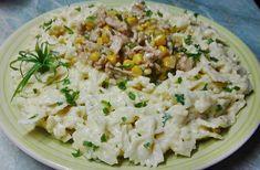 Sajtos farfalle, kukoricás csirkemellel🍴 Kaja, Fish Recipes, Grains, Rice, Food, Meal, Essen, Laughter, Korn