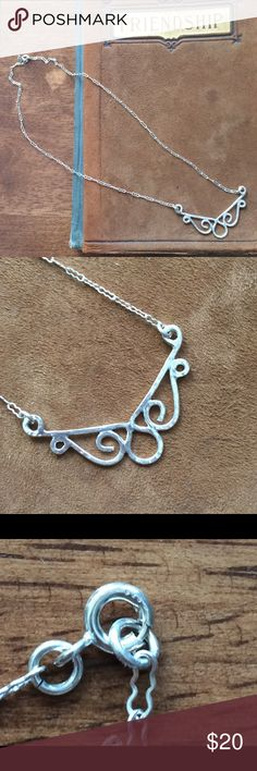Handmade Necklace Stamped .925 sterling silver necklace. Handmade Jewelry Necklaces