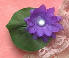 Opaque Purple Lily Tabi's Creative Creatures Tabi's Elegant Hair Pieces by TabiCreativeCreature on Etsy