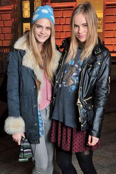 It girls Cara Delevingne and Suki Waterhouse
