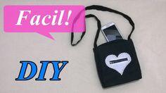 DIY... Mini bolso o bandolera con bolsillo de corazon