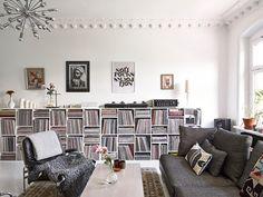 Binnenkijken in een zwart-wit appartement / www.woonblog.be