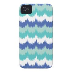 Ikat Scallop Waves iPhone 4 Case-Mate Case