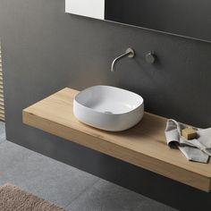 Umywalka łazienkowy ceramiczny Cienki wsparcie 45 Novello