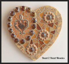 Mixed Media Friendship Heart Mosaic by Heart2HeartMosaics on Etsy, $60.00