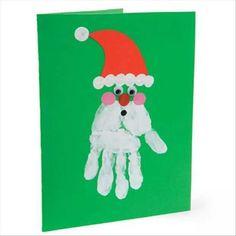 Kids HAND-made Santa card
