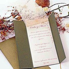 Invitaciones de boda de estilo vintage por Azulsahara