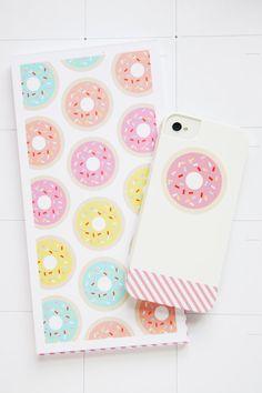 Donut Notepad + iPhone Case - Studio DIY & Pencil Shavings Studio