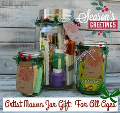 Kaleidoscope of Colors: Artist Mason Jar Gift: For All Ages