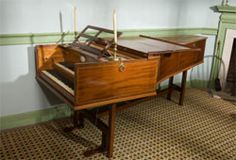 The Little Parlor - contains a harpsichord imported from London in 1793 as a gift for Mrs. Washington's youngest granddaughter, Nelly.